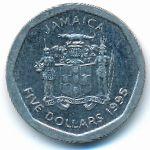 Ямайка, 5 долларов (1995 г.)