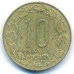 Центральная Африка, 10 франков (1984 г.)
