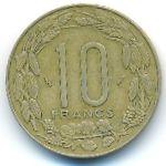 Центральная Африка, 10 франков (1985 г.)