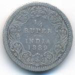 Британская Индия, 1/4 рупии (1889 г.)