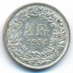Швейцария, 1/2 франка (1951 г.)