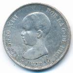Испания, 5 песет (1888 г.)
