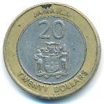 Ямайка, 20 долларов (2000–2001 г.)