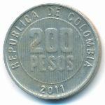 Колумбия, 200 песо (2011 г.)