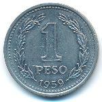 Аргентина, 1 песо (1959 г.)