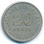 Малайя и Британское Борнео, 20 центов (1954–1961 г.)