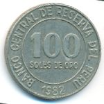 Перу, 100 солей (1980–1982 г.)