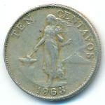 Филиппины, 10 сентаво (1963 г.)