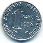 Западная Африка, 1 франк (1978 г.)