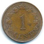 Мальта, 1 цент (1972–1977 г.)