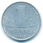 ГДР, 1 пфенниг (1961 г.)