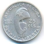 Куба, 25 сентаво (1953 г.)