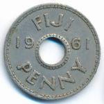 Фиджи, 1 пенни (1961 г.)