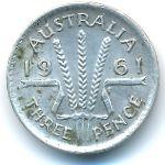 Австралия, 3 пенса (1961 г.)
