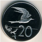 Cook Islands, 20 cents, 1972–1983
