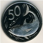 Cook Islands, 50 cents, 1972–1983