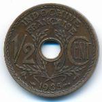 Французский Индокитай, 1/2 цента (1935–1939 г.)