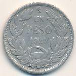 Чили, 1 песо (1925 г.)