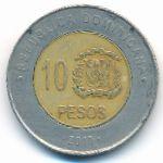 Доминиканская республика, 10 песо (2010 г.)