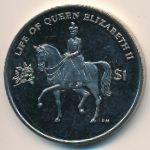 Виргинские острова, 1 доллар (2011–2012 г.)