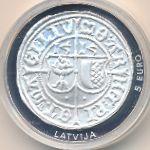 Латвия, 5 евро (2015 г.)
