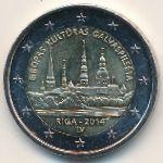 Латвия, 2 евро (2014 г.)