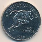 Джерси, 2 фунта (1986 г.)