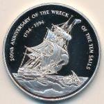 Каймановы острова, 2 доллара (1994 г.)