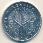Джибути, 5 франков (1991 г.)