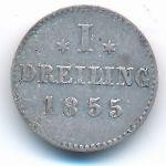 Гамбург, 1 дрейлинг (1855 г.)