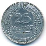 Германия, 25 пфеннигов (1909–1912 г.)