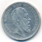 Вюртемберг, 5 марок (1876 г.)
