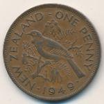Новая Зеландия, 1 пенни (1949 г.)