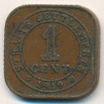 Стрейтс-Сетлментс, 1 цент (1919–1926 г.)