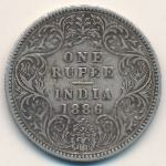 Британская Индия, 1 рупия (1886 г.)