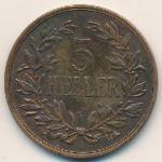 Немецкая Африка, 5 геллеров (1909 г.)