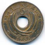Восточная Африка, 5 центов (1955 г.)