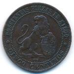 Испания, 5 сентимо (1870 г.)