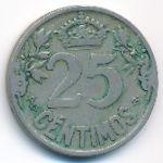 Испания, 25 сентимо (1925 г.)