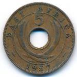 Восточная Африка, 5 центов (1957 г.)