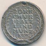 Пфальц, 20 крейцеров (1727 г.)