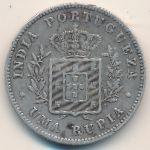 Португальская Индия, 1 рупия (1882 г.)