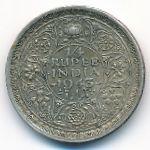 Британская Индия, 1/4 рупии (1943–1945 г.)