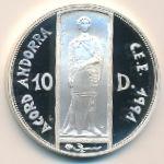Андорра, 10 динеров (1993 г.)