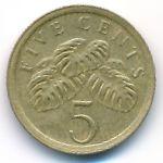 Сингапур, 5 центов (1989 г.)