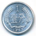 Китай, 1 фень (1977–2005 г.)