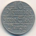 Данциг, 10 пфеннигов (1923 г.)