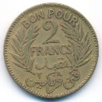 Тунис, 2 франка (1921–1941 г.)