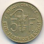 Западная Африка, 5 франков (1989 г.)