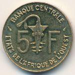 Западная Африка, 5 франков (1990 г.)